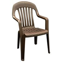 CHAIR HIGH BACK EARTH BROWN