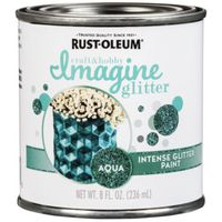 PAINT INTENSE GLITTER AQUA 8OZ