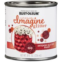 PAINT INTENSE GLITTER RED 8OZ