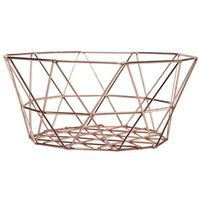BASKET EGG COPPER 8X5IN