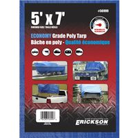 TARP UTILITY 5X7FT BLUE POLY