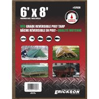 TARP REV 6X8FT BRN/GRN