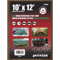 TARP REV 10X12FT BRN/GRN