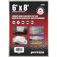 TARP UTILITY 6X8FT WHITE