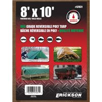 TARP REV 8X10FT BRN/GRN