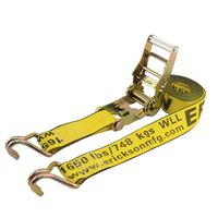 STRAP 2X15FT RATCHET J-HOOK
