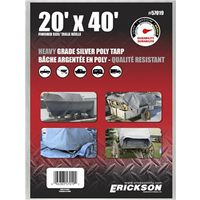TARP 20X40FT HVY SILVER POLY