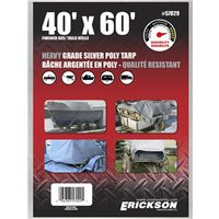 TARP 40X60FT HVY SILVER POLY