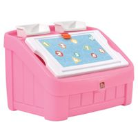 TOY BOX & ART LID 2 IN 1 PINK