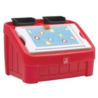 TOY BOX & ART LID 2 IN 1 RED