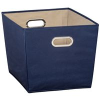 BIN STORAGE W/HANDLE LRG BLUE