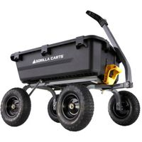 CART DUMP POLY YARD BLK 1200LB