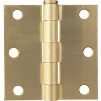 HINGE DR SQ 3X3IN SAT BRASS