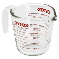 CUP MEASURING 2C CLEAR GLASS