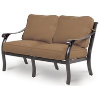 LOVESEAT CUSHIONED ALUM YORK