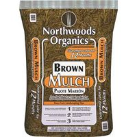 MULCH BROWN 2 CUBIC FEET