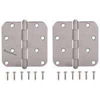 HINGE DR 5/8RD 4X4IN POLISH SS