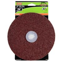 DISC FIBER 7IN X 7/8IN 24 GRIT