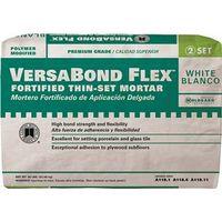 VersaBond?Flex VBFW50 All Purpose Fortified Thin?Set?Mortar, 50 lb, Bag, White, Powder