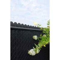 SLAT PRIVACY 48IN BLK PVC