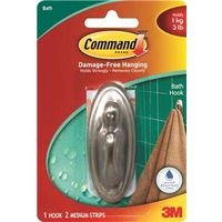 Command 17051BN-B Traditional Decorative Hook