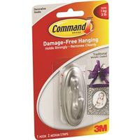 Command 17051BN Traditional Medium Decorative Hook