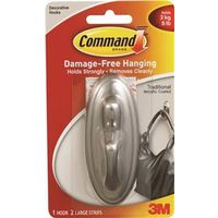 Command 17053BN Traditional Large Decorative Hook