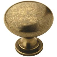 KNOB RND BURNSHD BRASS 1-1/4IN