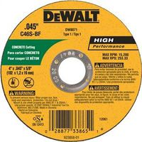 Dewalt DW8071 Type 1 Thin Reinforced Cut-Off Wheel
