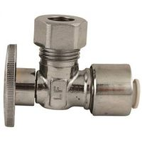 Plumb Pak 2623PCPOLF 1/4 Turn Push-Fit Quick Lock Angle Stop Valve