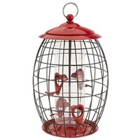 FEEDER BIRD 4PORT RED 1-1/4LB