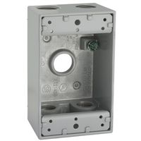 WALLPLATE BOX GRY 1G 5CT 1/2IN