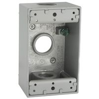 WALLPLATE BOX GRY 1G 3CT 3/4IN