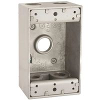WALLPLATE BOX GRY 1G 5CT 3/4IN