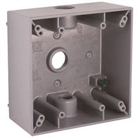 WALLPLATE BOX GRY 2G 3CT 1/2IN