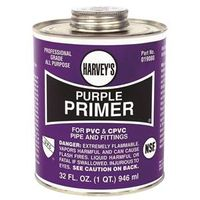 Harvey's 019080-12 PVC/CPVC Purple Primer