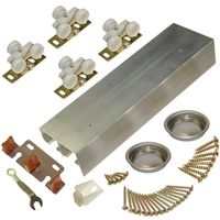 Johnson Hardware 138F482D 2 Panel By Pass Door Hardware Set