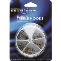 FISHING HOOKS ASST TREBLE W/BX