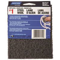 PAD STL WOOL SYN CHARCOAL MED