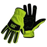 GLOVES MECHANIC HIVIS GREEN L
