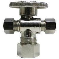 Watts LF PBQT-218 1/4 Turn 3-Way Angle Stop Valve
