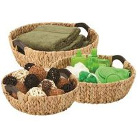 BASKET ROUND NATURAL 3PC