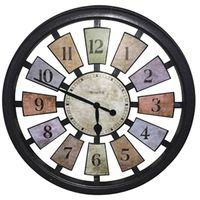 Westclox 36014 Casual Color Framed Panel Wall Clock