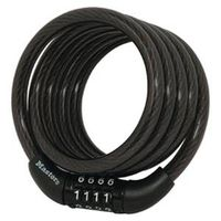 LOCK CABLE CMBO BLK 4FTX5/16IN