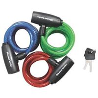 PADLOCK CABLE BLU/GRN/RED 6IN
