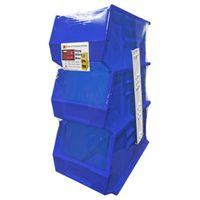 BIN STORAGE POLYMER BLUE LARGE