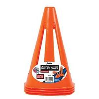 SOCCER CONES 9IN W/LABEL 4CT