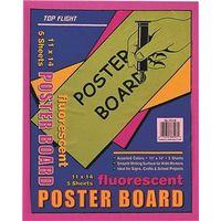 POSTERBOARD FLUOR 5CT 11X14IN