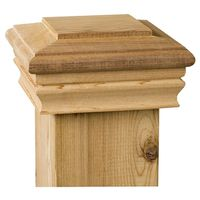 Marine Ornamental Classic 72262 Post Cap with Cedar Wood Base