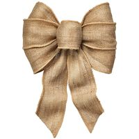 BOW 7LOOP WIRED NATURAL BURLAP